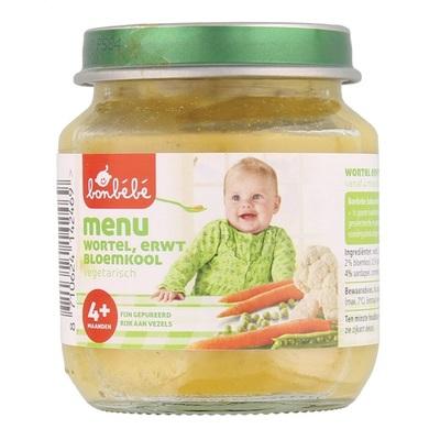 Bonbebe Baby/Peuter Maaltijd Menu Wortel, Erwt En Bloemkool
