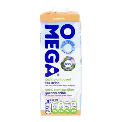 OOOMEGA Macchiato 100% Plantaardige Lijnzaad Drink