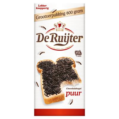 De Ruijter Chocoladehagel Puur Grootverpakking