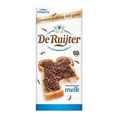 De Ruijter Chocoladehagel Melk Grootverpakking