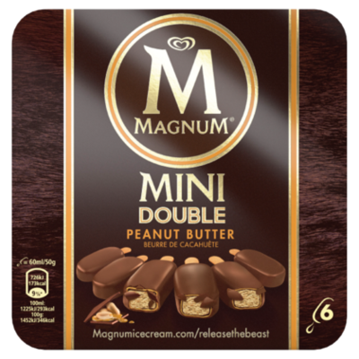Ola Magnum mini peanutbutter 6st