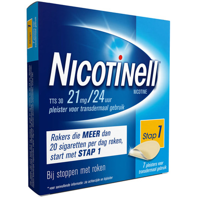 Nicotinell Pleisters 21mg/24u stoppen met roken