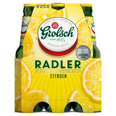 Grolsch Radler Citroen Flessen 6 x 30 cl