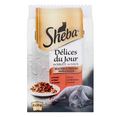 Sheba Delices du jours selectie in saus
