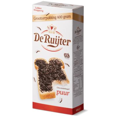 De Ruijter Chocoladehagelslag Puur Grootverpakking