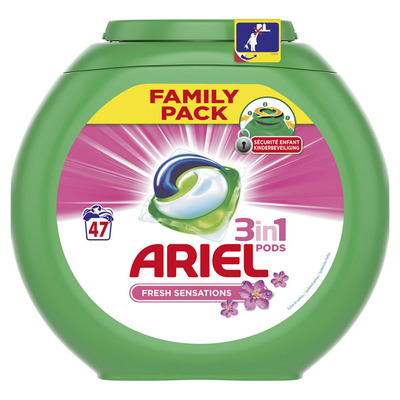 Ariel 3in1 pods fresh sensation pink wasmiddel