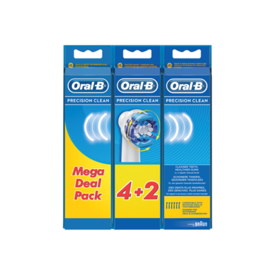 Oral-B Precision Clean Vervangende Opzetborstels Voor Elektrische Tandenborstels x