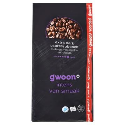Huismerk espresso bonen extra dark 1 kilo