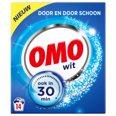 Omo Poeder wasmiddel wit 14 wasbeurten