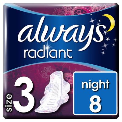 Always Radiant normal 12 maandverband vleugels