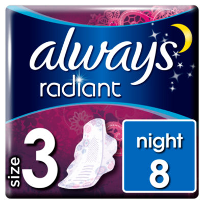 Always Maandverband Radiant Night Vleugels