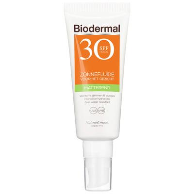 Biodermal Matterende zonnefluïde SPF 30