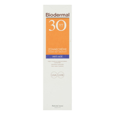 Biodermal Anti age zonnecrème gezicht SPF 30