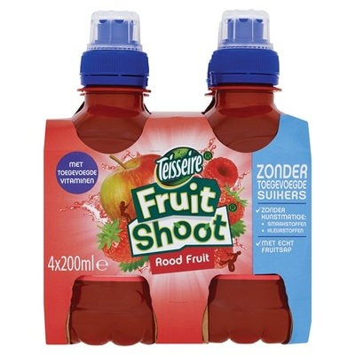 Teisseire Fruitshoot rood fruit 0%