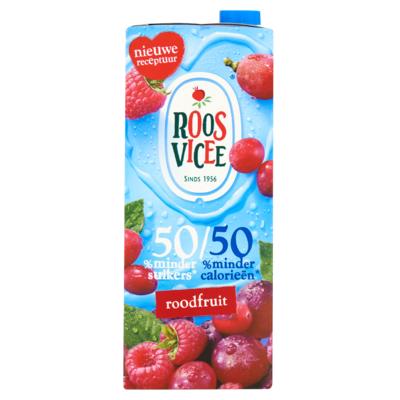 Roosvicee 50/50 Roodfruit 1,5 L