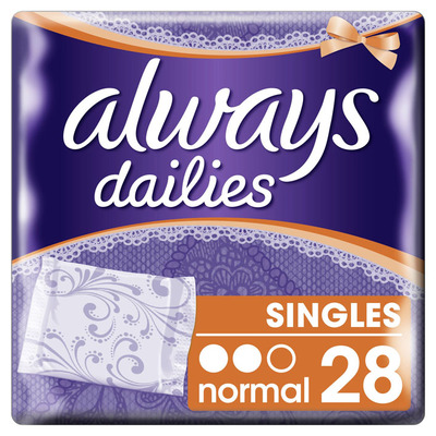 Always Dailies singles normal inlegkruisjes