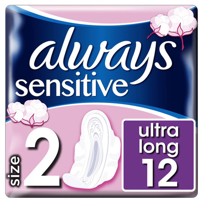 Always Ultra sensitive long maandverbanden