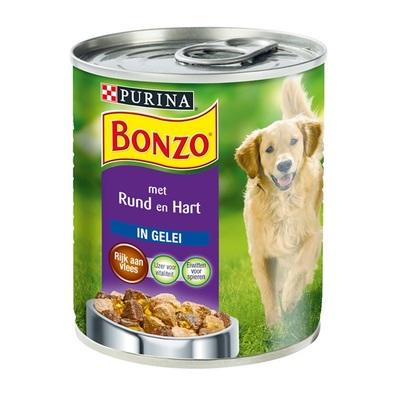 Bonzo Hondenvoer Met Rund En Hart In Gelei