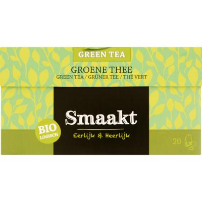 Smaakt Groene thee biologisch 20 zakjes