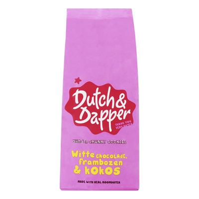 Dutch & Dapper Witte chocolade, frambozen & kokos