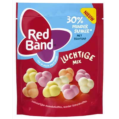 Red Band Luchtige winegummix 30% minder suiker