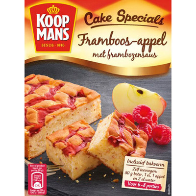 Koopmans Cake specials framboos appel met saus