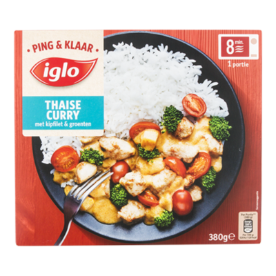 Iglo Ping&Klaar Thaise curry kip/groenten