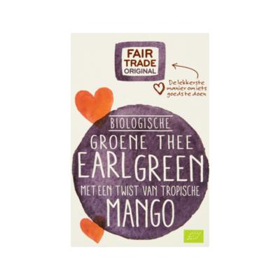 Fair Trade Original Biologische Groene thee Earl Green 20 zakjes à