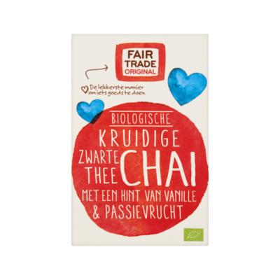 Fair Trade Original Biologische Kruidige Zwarte Thee Chai 20 Zakjes à
