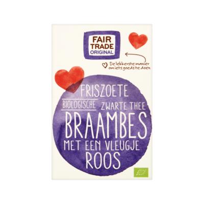 Fair Trade Original Biologische Zwarte Thee met Braambes 20 zakjes à