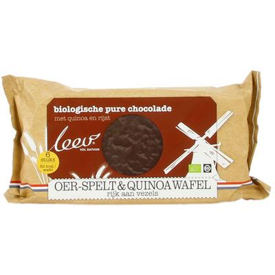 Leev Bio oer choco spelt & quinoa wafels puur