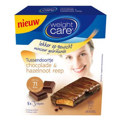 Weight Care Snackreep chocolade-hazelnoot