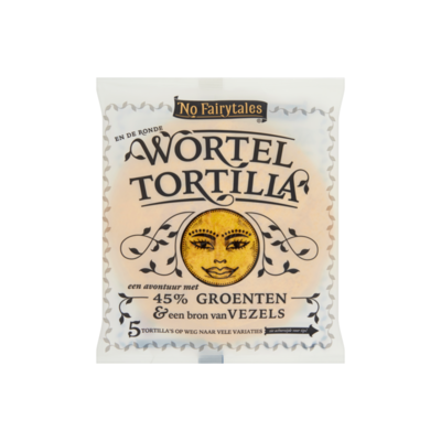 No Fairytales Wortel Tortilla 5 Stuks