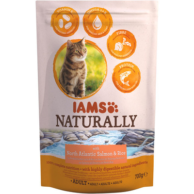 IAMS Naturally cat adult zalm & rijst