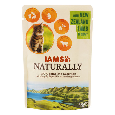 IAMS Naturally cat adult lam in jus