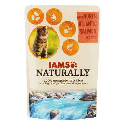 IAMS Naturally cat adult zalm in jus