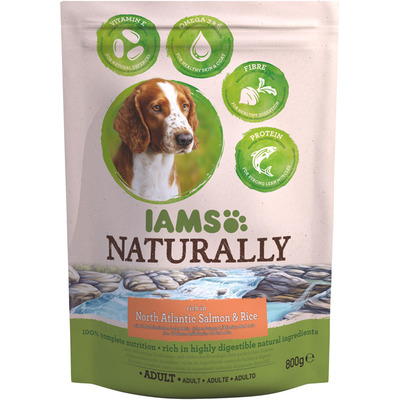 IAMS Naturally dog adult zalm & rijst
