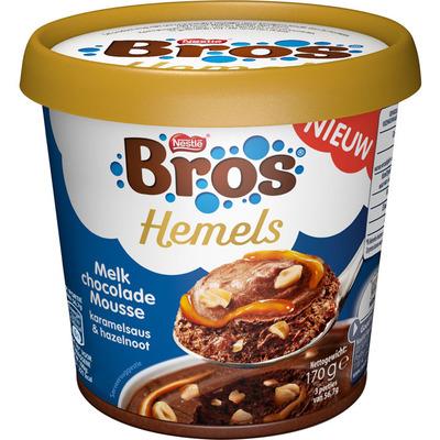 Bros Hemelse melkchoc mousse karamel hazeln.