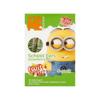 Despicable Me School Bars Strawberry Flavour 4 Stuks