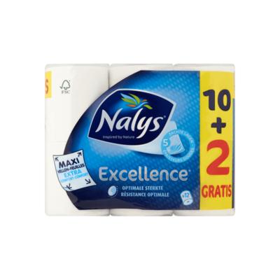 Nalys Excellence 5-Laags Maxi-Vel Toiletpapier 10+2 Gratis