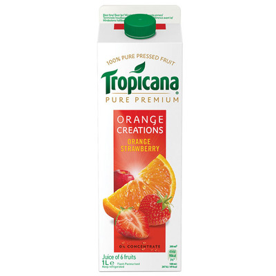 Tropicana Orange creations orange & strawberry