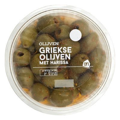 Huismerk Griekse olijven met harissa