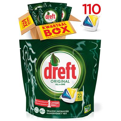 Dreft all in one citroen vaatwastabletten kwartaalbox 110 stuks