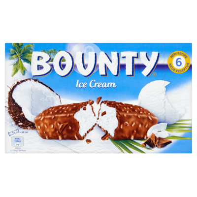 Bounty Ice cream 6 stuks