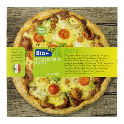 Bio+ Pizza mozzarella pesto