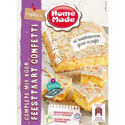 Homemade Complete mix voor feesttaart confetti
