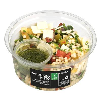 Huismerk Salade parelcouscous pesto