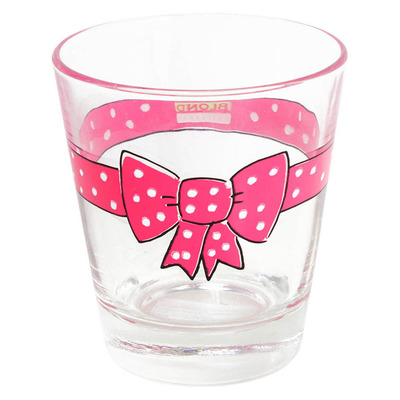 Blond Amsterdam glas donker roze