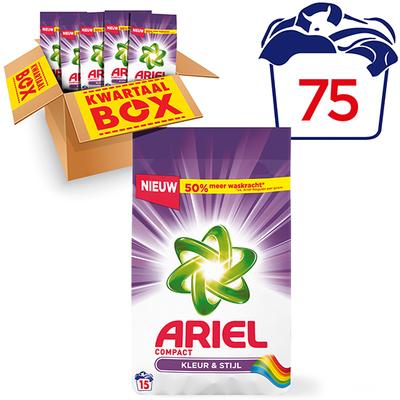 Ariel compact waspoeder color kwartaalbox