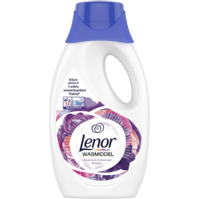 Lenor Vloeibaar wasmiddel amethist & bloemen 15 wasbeurten